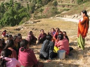 Moedergroep met Sanu Maya-klein