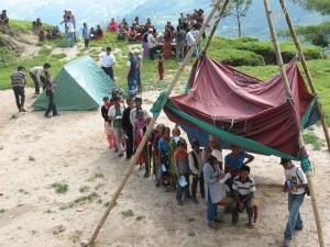 Oogscreening tijdens kamp